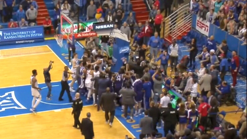 Kansas basketball brawl