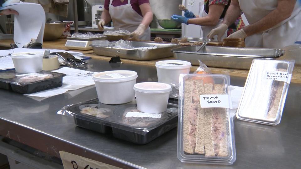 Meals on Wheels kitchen