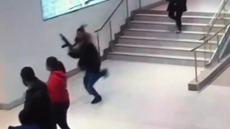 Teen hit with butt of long gun at Langley mall
