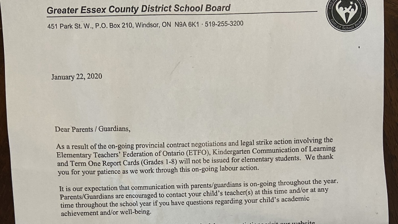 A letter was sent home to parents in the Greater Essex County District School Board. (CTV Windsor)