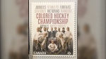 Canada Post has unveiled a commemorative stamp that pays tribute to an all-black hockey league that once thrived in the Maritimes. (Canada Post)