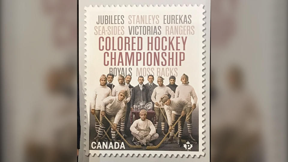 Colored Hockey Championship stamp