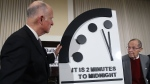 The Doomsday Clock is being reset Thursday, letting humanity know if we've inched any closer to the complete and total annihilation of the earth (well, at least metaphorically). (Getty Images)