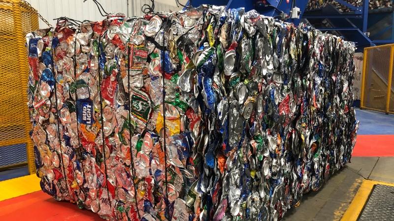 Recycling material (Wayne Mantyka / CTV News Regina)