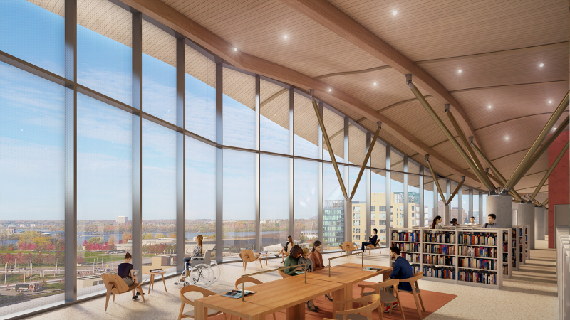 The design for Ottawa's new central library, a $192-million joint project between the Ottawa Public Library and Library and Archives Canada, was revealed on Thursday.