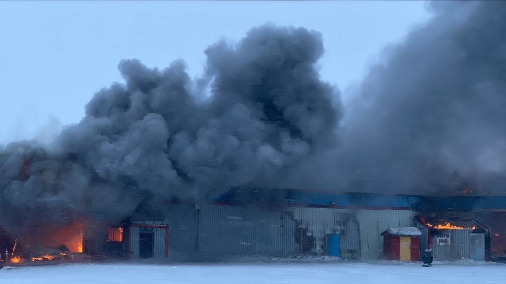 Warehouse fire