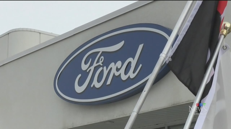 The sign at Ridgehill Ford.