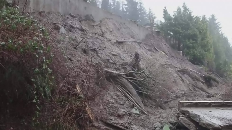 Mudslide forces evacuation near Burnaby Mountain