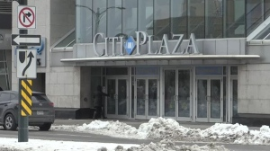 The entrance to Citi Plaza in downtown London, Ont. is seen on Thursday, Jan. 23, 2020. (Bryan Bicknell / CTV London)