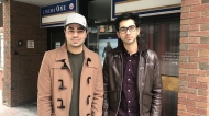 Omar Javaid (left) stars in his brother Amair's (right) film called Hafiz, which is screening at Calgary's Globe Cinema.