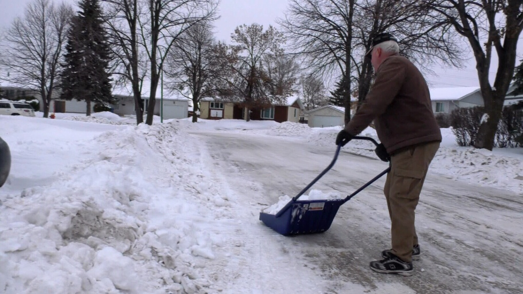 Homeowner alleges snow clearing crews purposely destroyed his driveway