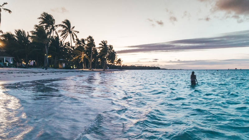 A swimmer relaxing in Punta Cana is seen in this image. (Pexels)