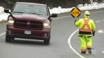 Blasting mishap causes rockslide on island highway