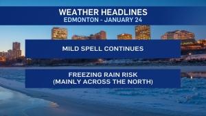 Jan. 24 weather headlines