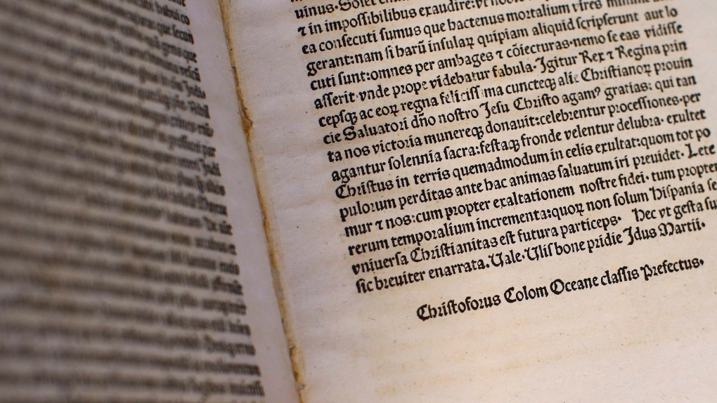Columbus letter