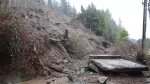 A mudslide swept down Burnaby Mountain on Jan. 23, 2020.