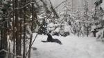 Boomer enjoys the snow in Sunshine Valley, B.C. (Charlotte Fuhrmann)