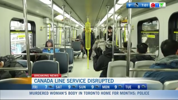 Canada Line not working