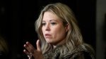 Conservative MP Michelle Rempel Garner speaks to reporters as she arrives for a Conservative caucus retreat on Parliament Hill in Ottawa, on Friday, Jan. 24, 2020. THE CANADIAN