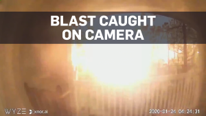 Moment of Houston warehouse blast caught on cam