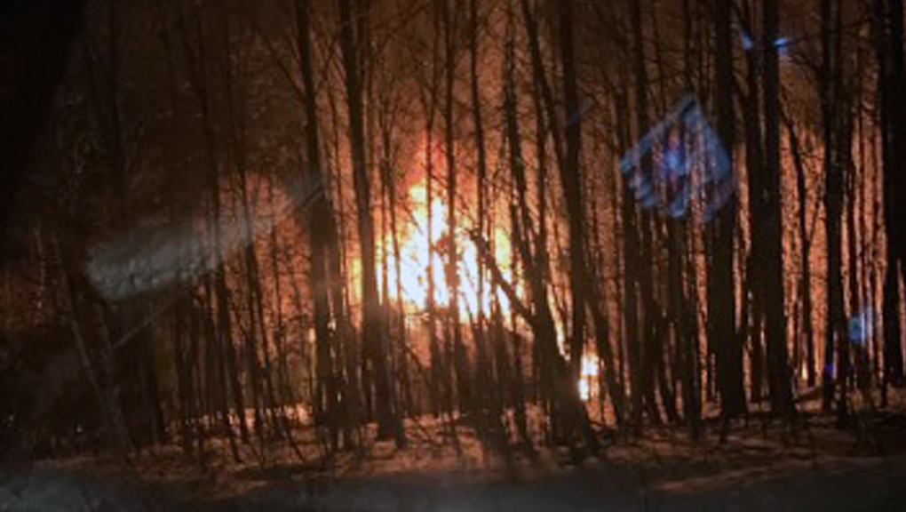 A suspicious fire has destroyed a luxury home in Kanesatake