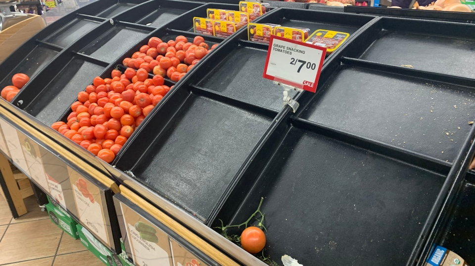 The Tofino Co-op grocery store at 5 p.m. Thursday. (Karen Brodie)