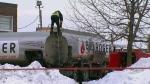 Truck spills 1,000 litres of diesel oil in Dorval