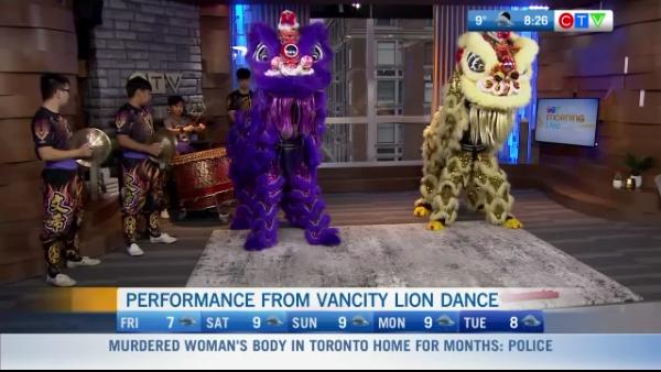 Vancity Lion Dancers perform