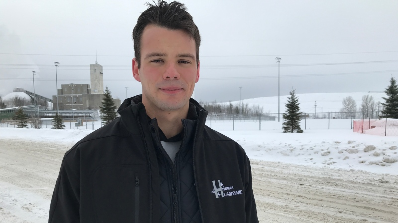 Alex Gagnon wants to repurpose the Timmins headframe into a climbing wall and escape room experience. Jan. 24, 2020 (Sergio Arangio/CTV Northern Ontario)