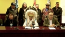 Onion Lake Cree Nation Chief Henry Lewis declared a state of emergency in a news conference on Jan. 24, 2020. (Lisa Risom/CTV News)