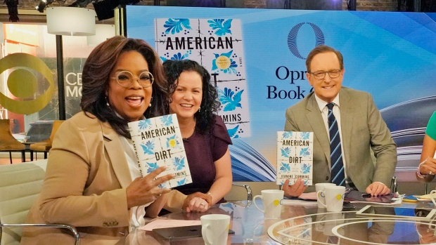 "Oprah Winfrey appearing on CBS with ""American Dirt"" author Jeanine Cummins."