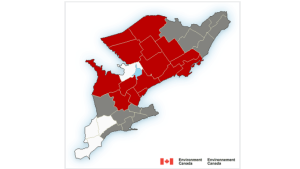 Environment Canada has issued freezing rain warnings for much of the region January 24th, 2020