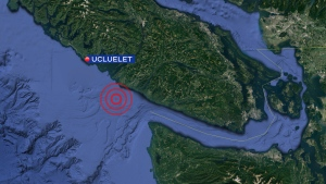 "Earthquakes Canada's automatic detection registered the quake at magnitude 4.0, and described it as coming from the ""Ucluelet region"" at 1:35 p.m."
