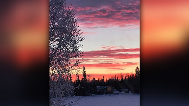 Morning sunrise in Cranberry Portage. Photo by Leslie Hay.