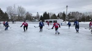 First Sudbury Outdoor Heritage Classic hockey game