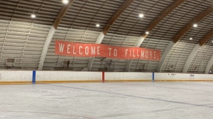 The inside of the Fillmore rink is pictured. (Colton Wiens / CTV News Regina)