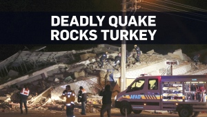 Deadly earthquake in Turkey traps dozens in wrecka