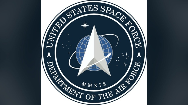 An image of the newly unveiled Space Force logo.