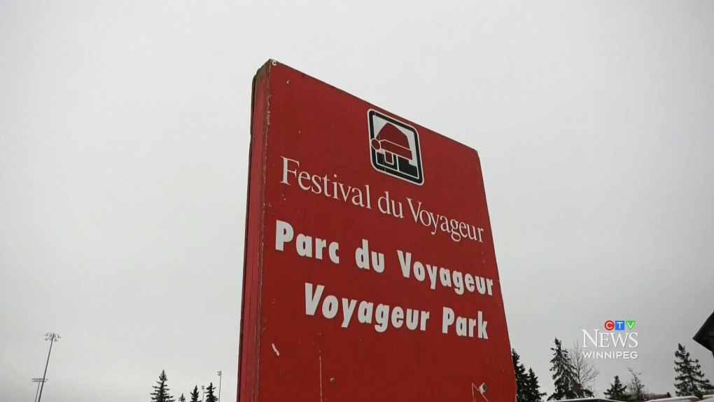 Snow blocks almost ready for artists to carve for Festival du Voyageur