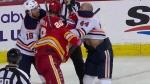Tkachuk, Kassian, brawl, fight, Oilers, Flames