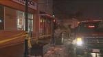 Two people were taken to hospital following a fire at a building on Weston Road, near Eglinton Avenue.