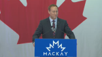 Former federal cabinet minister Peter MacKay announced his candidacy for the leadership of the federal Conservative party.