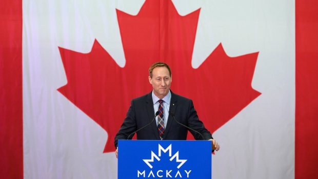 Peter MacKay speaks to a crowd of supporters during an event to officially launch his campaign for leader of the Conservative Party of Canada in Stellarton, N.S. on Saturday, January 25, 2020. THE CANADIAN PRESS/Darren Calabrese
