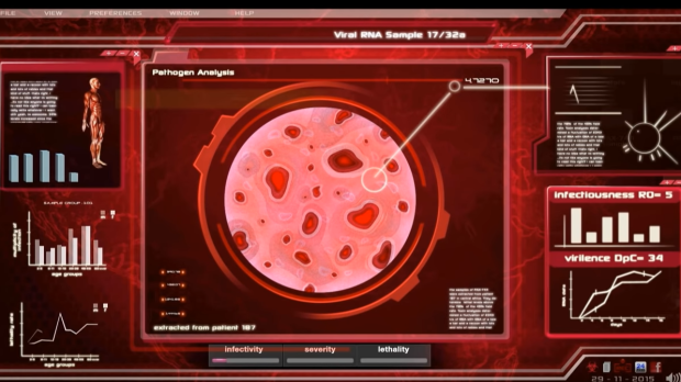 """""""Plague Inc."""" tasks players with developing a pathogen that can adapt and spread before scientists can develop a cure for it. (Ndemic Creations / YouTube)"""