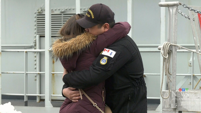 HMCS Glace Bay and HMCS Shawinigan say farewell