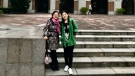 Lily Liu, who teaches at Kwantlen Polytechnic University, told CTV News Vancouver her daughter Fiona Dong left for China on Jan. 10 to visit her father and grandparents in Wuhan. (Lily Liu)