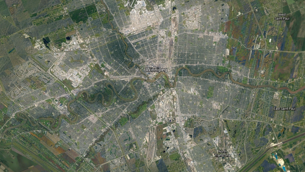 Satellite timelapse of Winnipeg over 35 years