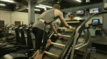 Man reaches great heights on workout machine