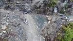 Highway 4 landslide on Vancouver Island