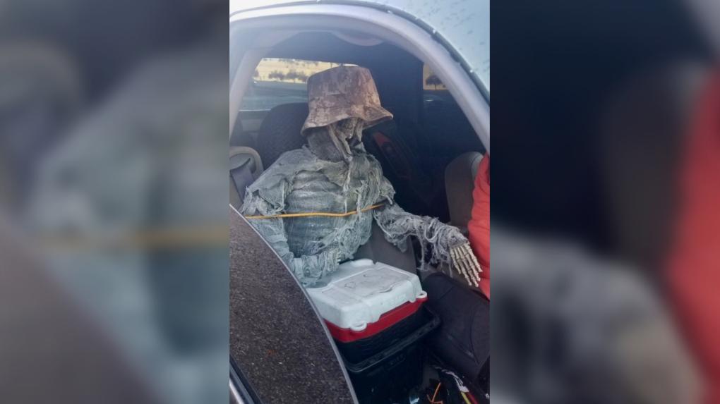 skeleton passenger in Arizona
